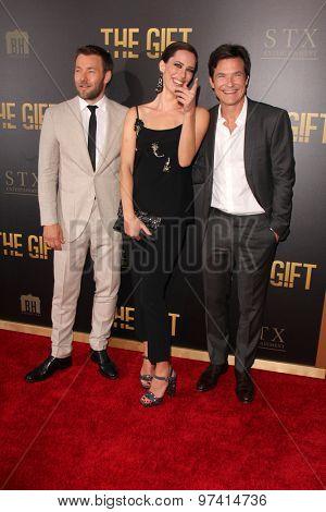 LOS ANGELES - JUL 30:  Joel Edgerton, Rebecca Hall, Jason Bateman at the