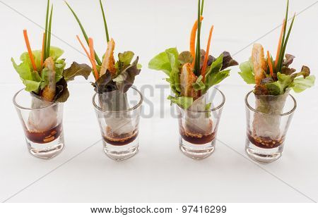 The Tasty Appetizers In Glass.