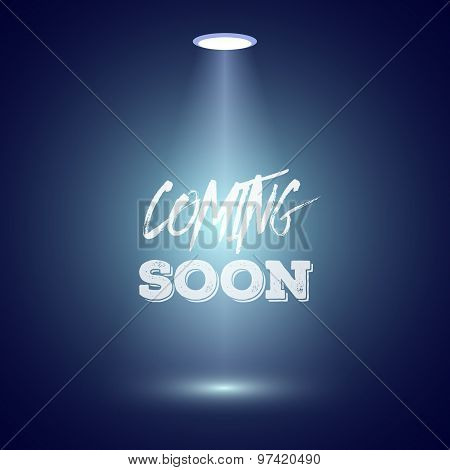 Vintage Style Coming Soon Dark Announscement Poster for websites