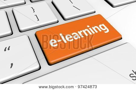 Elearning Online Education Button