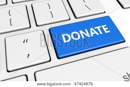 Donate Sign Keyboard Button