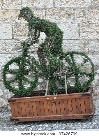 Green Man On A Bicycle