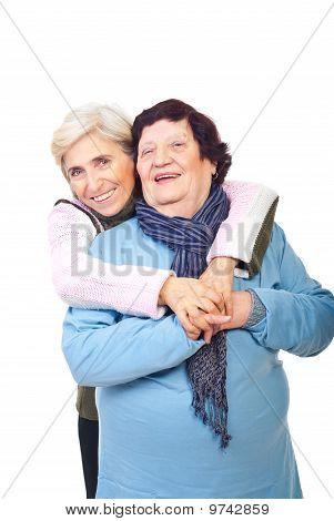 Elderly Mother With Senior Daughter