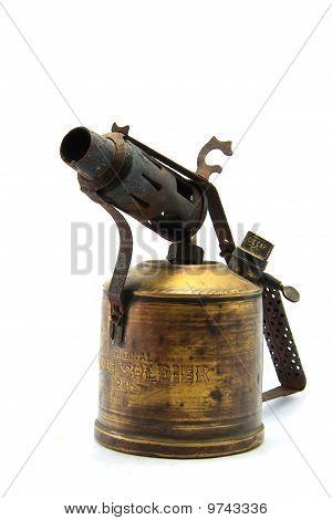 Fire Gun Brass Ware Isolated on White
