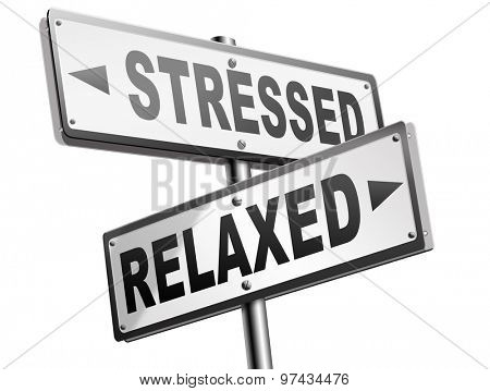 stress therapy and management helps in relaxation reduce tension and relief negativity become relaxed not stressed reduction of negative vibes distressing trough meditation and concentration  poster
