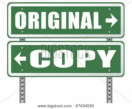 original idea or copycat cheap and bad copy or unique top quality product guaranteed road sign