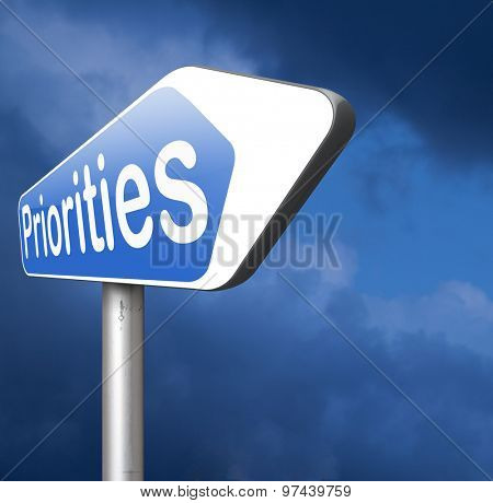 priorities sign important very high urgency info highest importance crucial information top priority don't forget