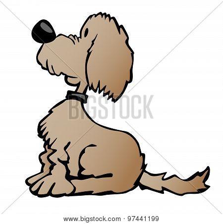 Puppy Dog Cartoon Illustration
