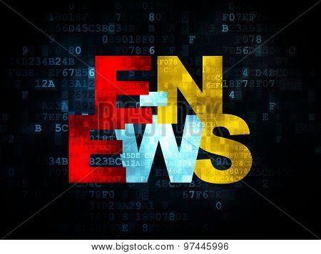 News concept: E-news on Digital background