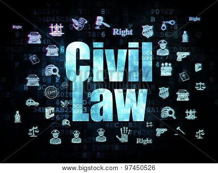 Law concept: Civil Law on Digital background