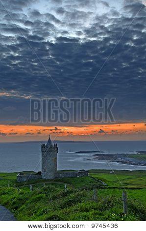 Beautiful Ancient Irish Celtic Castle Landscape
