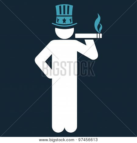 Capitalist icon from Business Bicolor Set