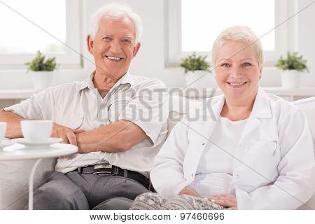 Nurse Visiting Senior Man