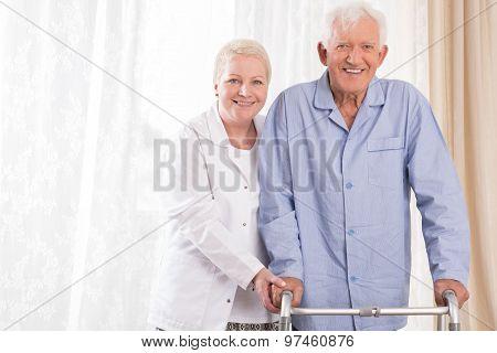 Nurse Helping Patient