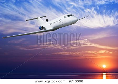 Airliner Flying In Sky