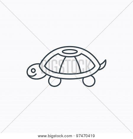 Turtle icon. Tortoise sign.