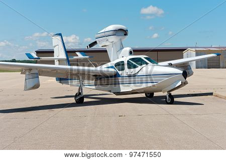 amphibious aircraft on airstrip in faribault minnesota poster