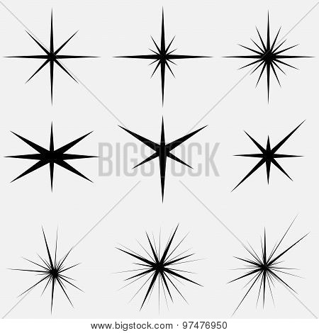 Sparkle lights Stars - vector