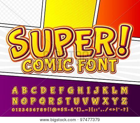 Creative High Detail Comic Font. Alphabet, Comics, Pop Art.