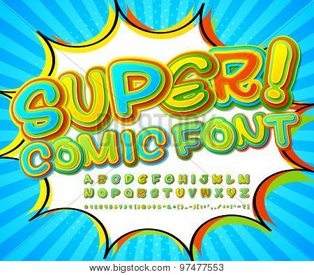 Creative High Detail Comic Font. Alphabet, Comics, Pop Art.