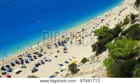 Egremni beach at Lefkada, Ionion sea, Greece