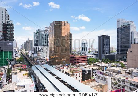Growth Along Railway Lines In Bangkok
