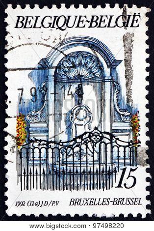 Postage Stamp Belgium 1992 Manneken Pis Fountain, Brussels