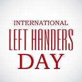 illustration of a Stylish text for International Left Handers Day. poster