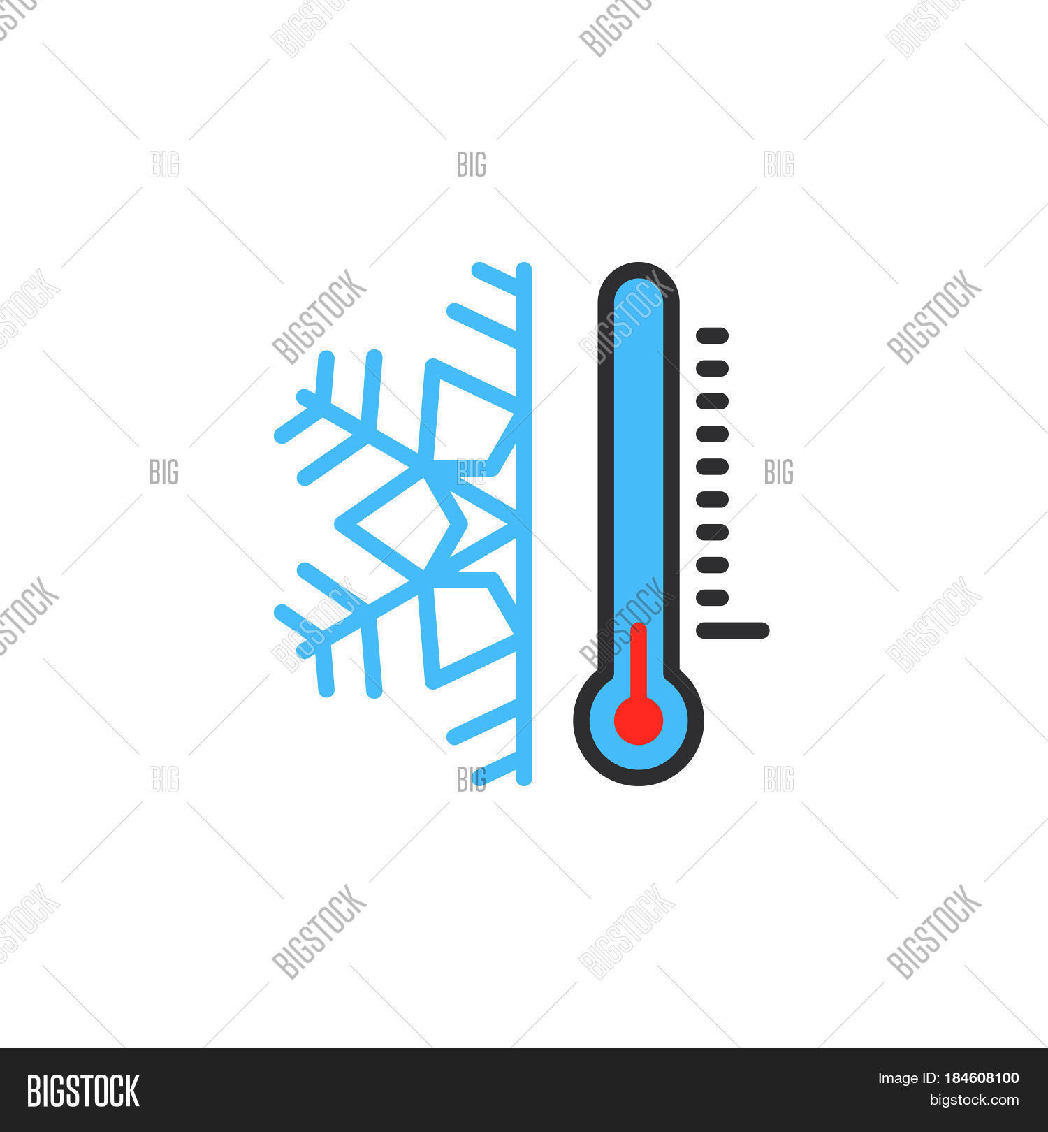 Thermometer Snowflake Vector Photo Free Trial Bigstock