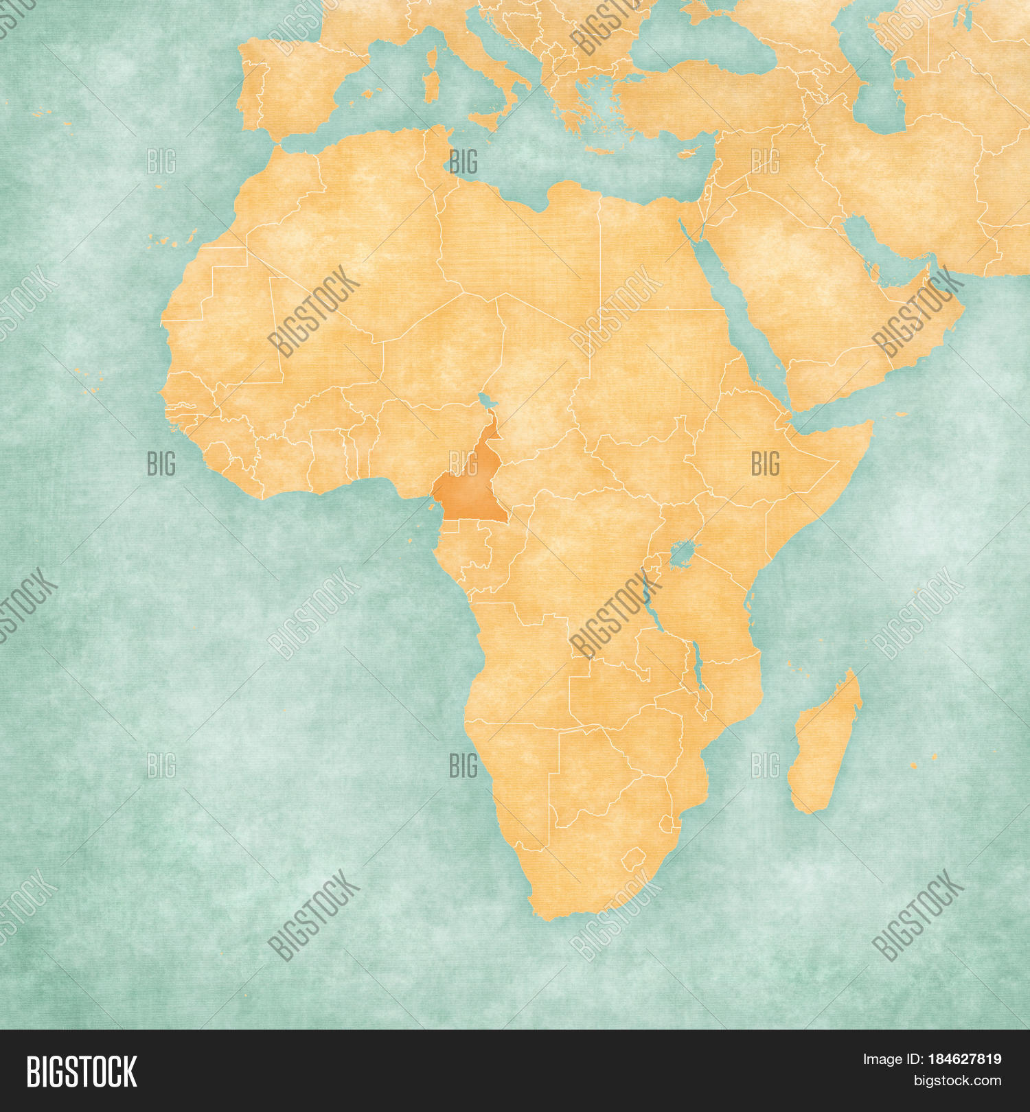 Map Africa - Cameroon Image & Photo (Free Trial)   Bigstock