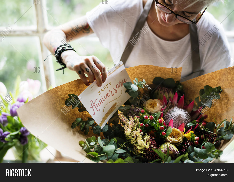 Florist Making Fresh Image Photo Free Trial Bigstock