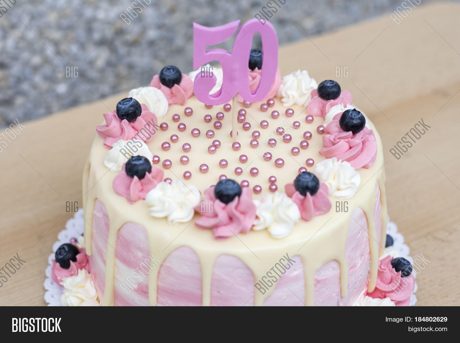 Outstanding Homemade Birthday Cake Image Photo Free Trial Bigstock Personalised Birthday Cards Veneteletsinfo