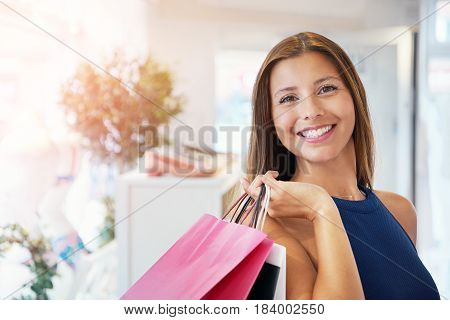 Adult Shopper Holding Assorted Shopping Bags