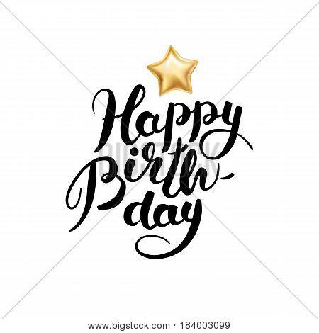 Happy Birthday Star Balloon