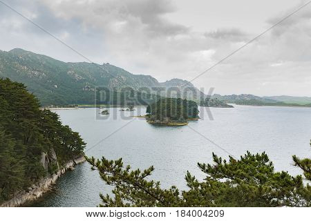 Lake Samilpo in south-eastern Kangwon Province in south-eastern North Korea