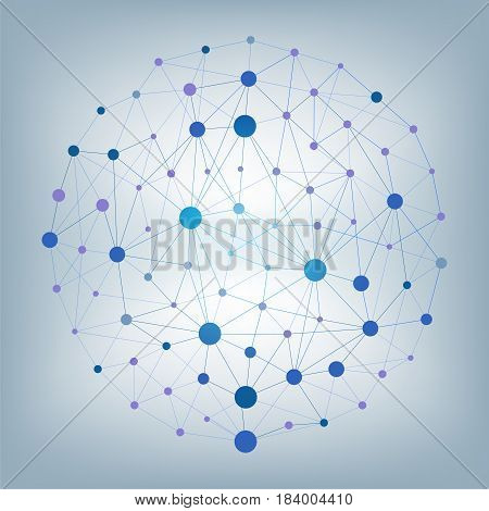 Abstract vector particles and lines background. Futuristic vector illustration.