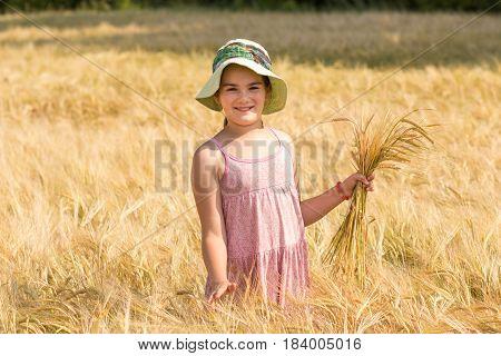 The Girl Walks The Wheat Field
