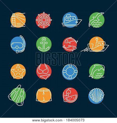 Marine Line Color Icon Circle2