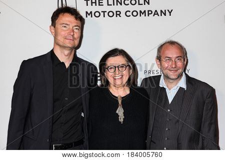 NEW YORK, NY - APRIL 23: Producer Pavel Strnad, actress Zuzana Kronerova and director Bohdan Slama attends 'Ice Mother' Premiere during TFF 2017 at Cinepolis Chelsea on April 23, 2017 in New York City