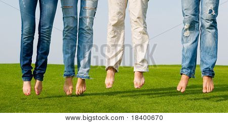 Beine mit jeans