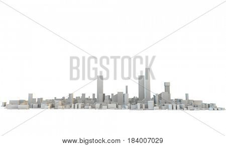 generic city or town with skyscrapers