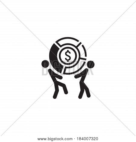 Market Share Icon. Business Concept. Flat Design. Isolated Illustration