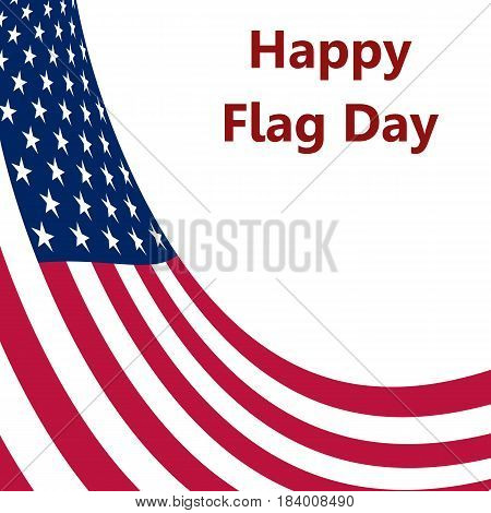 Flag United States, vector illustration white logo