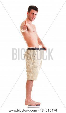Muscular Male Body Man Showing Thumb Up