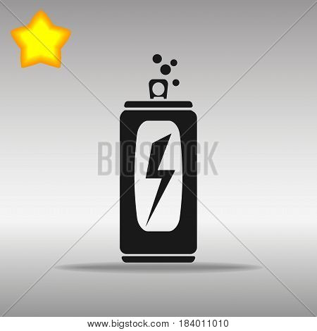 black Energy drink Icon button logo symbol concept high quality on the gray background