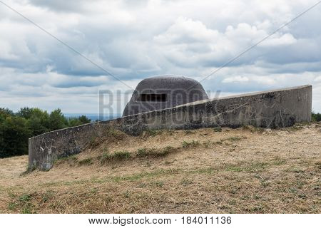 Observation post at Fort Douaumont near Verdun. Battlefield of First World War One poster