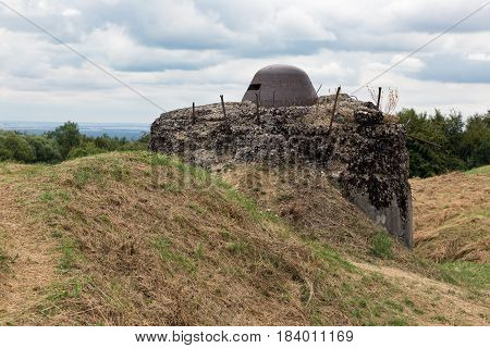 Observation post at Fort Douaumont near Verdun. Battlefield of First World War One