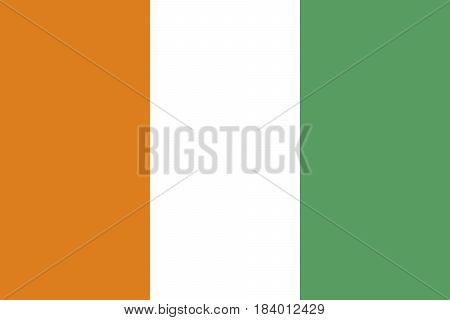 Illustration of the national flag of Cote d'Ivoire