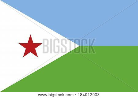 Illustration of the national flag of Djibouti