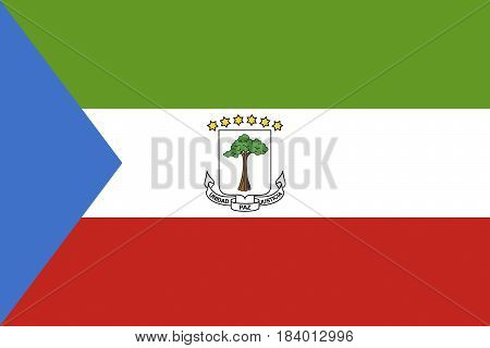 Illustration of the national flag of Equatorial Guinea